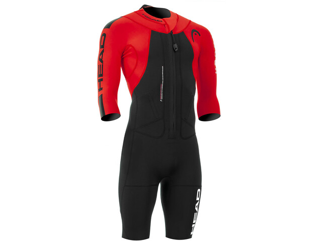 Head Swimrun Rough Combinaison manches courtes Homme, black-red
